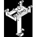 Подвесной ямный домкрат с ручным приводом 10 тонн, шток 800 мм Blitz GHL 10
