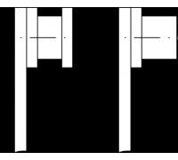 Комплект роликов 4 шт. со специальным профилем для подвесных домкратов Blitz