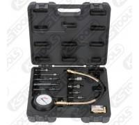 Компресометр дизельный с адаптерами (набор) 0-70 бар KS Tools 150.1680