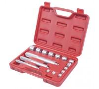 МАСТАК Набор оправок алюминиевых для подшипников, 10-32 мм, кейс, 16 предметов