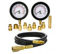 МАСТАК Манометр для измерения давления масла, два манометра, 0-7 и 0-28 бар