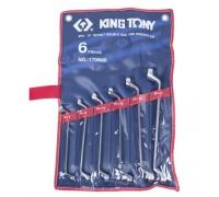 KING TONY Набор накидных ключей, 6-17 мм, 6 предметов