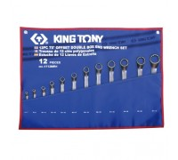 KING TONY Набор накидных ключей, 6-32 мм, чехол из теторона, 12 предметов