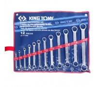 KING TONY Набор накидных ключей, 6-32 мм 12 предметов