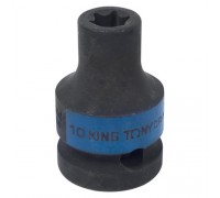 "KING TONY Головка торцевая ударная TORX Е-стандарт 1/2"", E10, L = 38 мм"