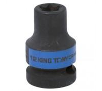 "KING TONY Головка торцевая ударная TORX Е-стандарт 1/2"", E12, L = 38 мм"