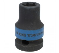 "KING TONY Головка торцевая ударная TORX Е-стандарт 1/2"", E14, L = 38 мм"