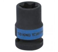 "KING TONY Головка торцевая ударная TORX Е-стандарт 1/2"", E18, L = 38 мм"