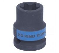 "KING TONY Головка торцевая ударная TORX Е-стандарт 1/2"", E20, L = 38 мм"