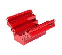 МАСТАК Ящик инструментальный раскладной, 5 отсеков, красный