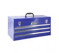 МАСТАК Ящик инструментальный, 3 полки, синий