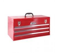 МАСТАК Ящик инструментальный, 3 полки, красный