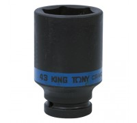 "KING TONY Головка торцевая ударная глубокая шестигранная 3/4"", 43 мм"