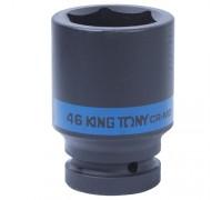 "KING TONY Головка торцевая ударная глубокая шестигранная 1"", 46 мм"