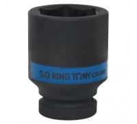 "KING TONY Головка торцевая ударная глубокая шестигранная 1"", 50 мм"