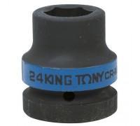 "KING TONY Головка торцевая ударная шестигранная 1"", 24 мм"