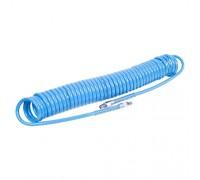 """MIGHTY SEVEN Шланг пневматический спиральный высокого давления 8х12 мм, 10 м, М1/4"""", полиуретановый"""