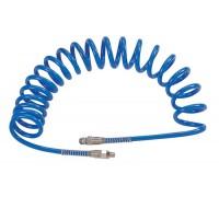 """MIGHTY SEVEN Шланг пневматический спиральный высокого давления 10х15 мм, 15 м, М3/8"""", полиуретановый"""
