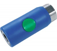 """Безопасный разъем """"мама"""" с зеленой кнопкой Prevost ERC 071101, 1/4"""" внутренняя резьба"""